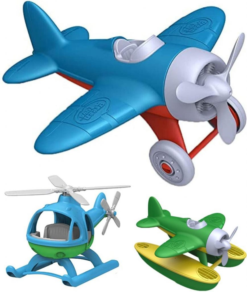 Green Toys Toddler Airplane Toy Made From Sustainable Recycled Plastic