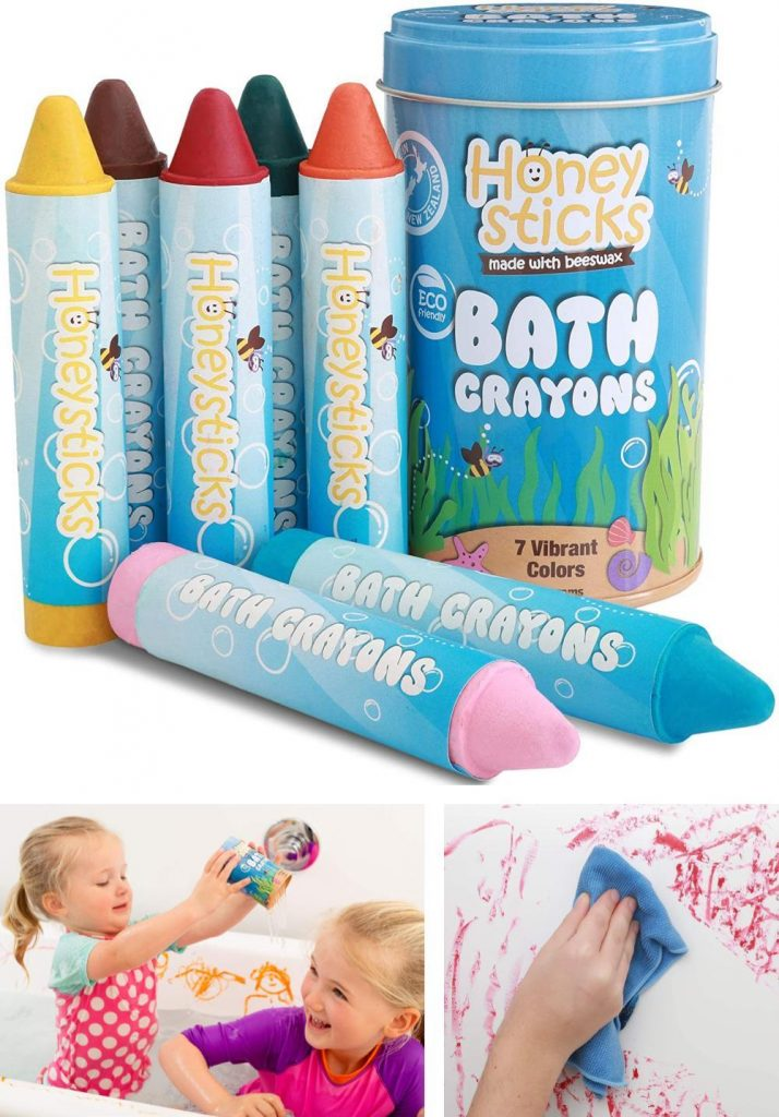 Honeysticks Bath Chalk For Toddlers And Kids All Natural 7 Pack