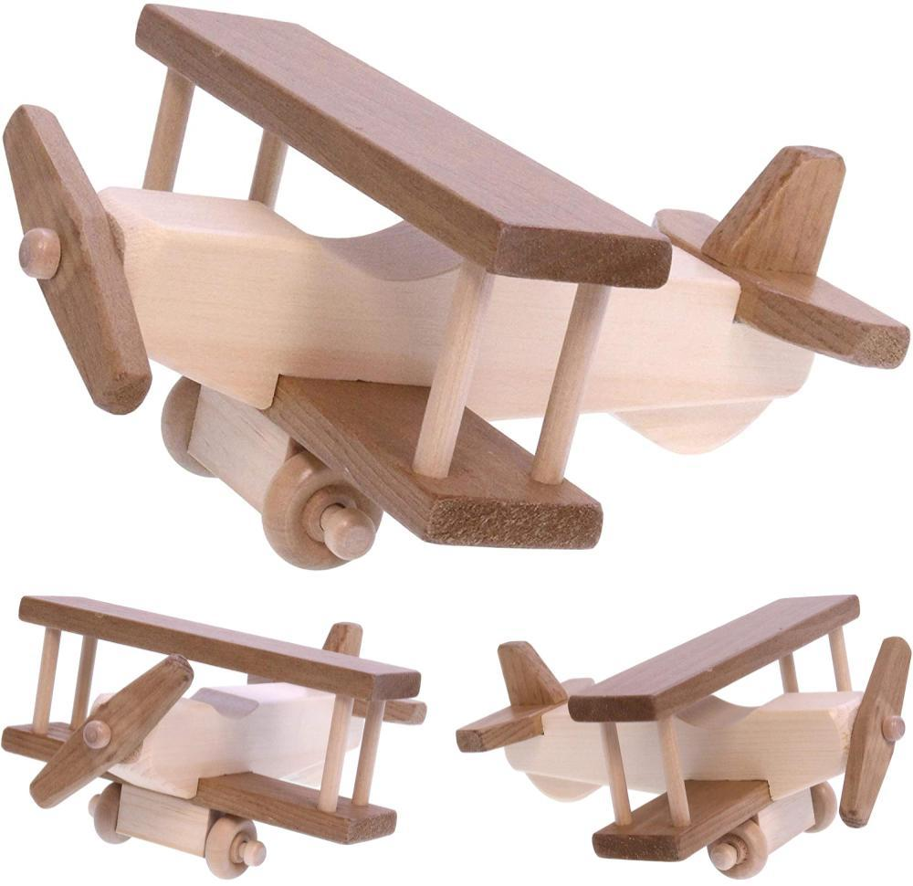 Lapps Toys Made In America Amish Hardwood Toy Airplane For Age 4 And Up