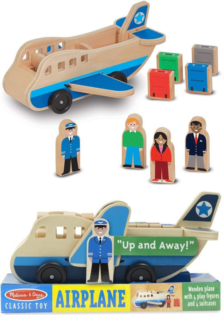 Melissa And Doug Wooden Airplane Play Set For Toddlers Airplane Toy