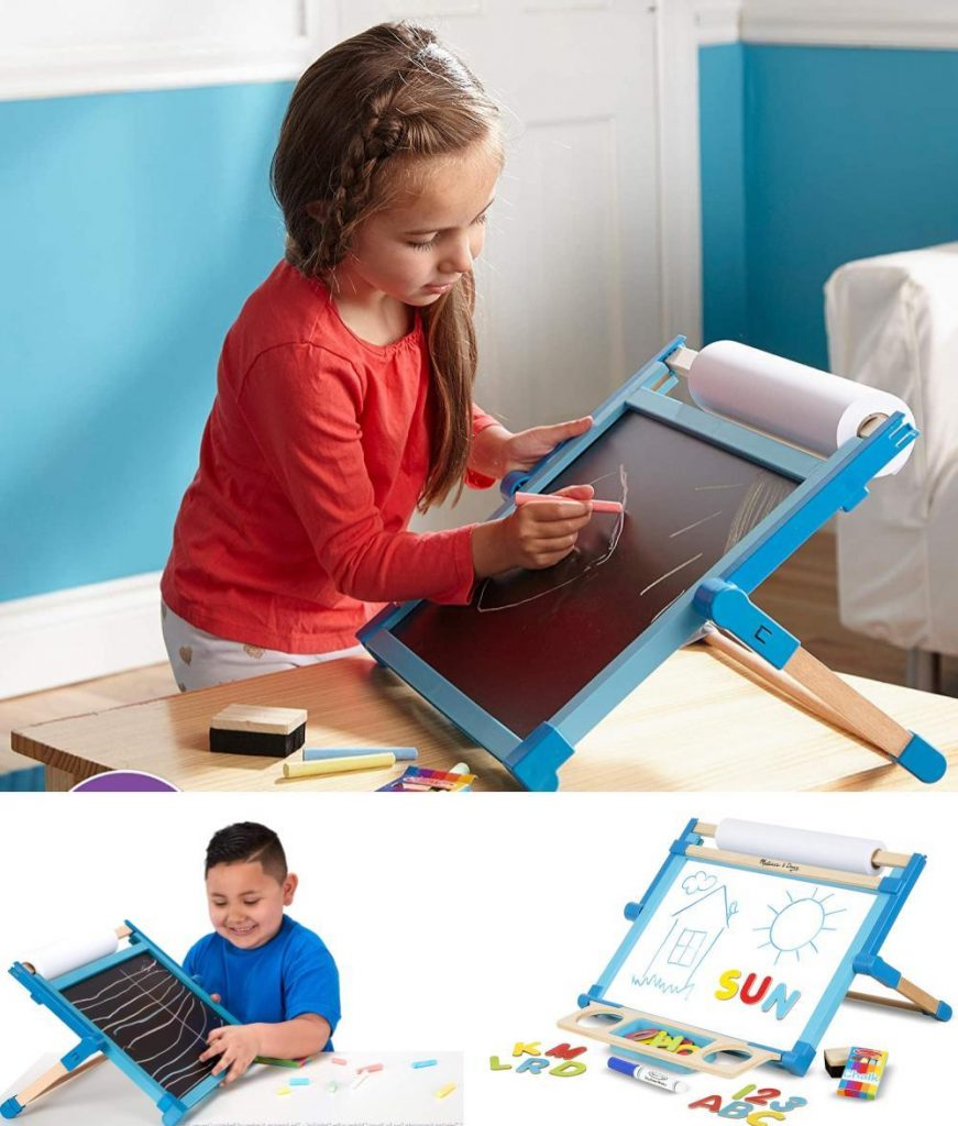 Melissa And Doug Wooden Space Saving Tabletop Chalkboard