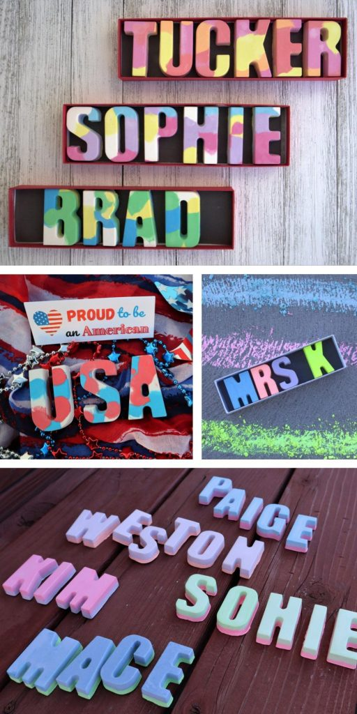 Personalized Name Sidewalk Chalk Spell Your Toddlers Name