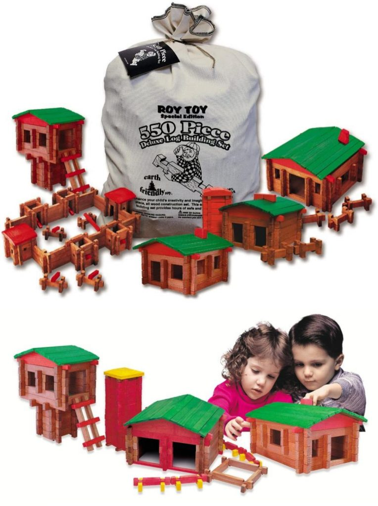 Roy Toy Classic Lincoln Logs Log Wooden Building Set Similar To Legos