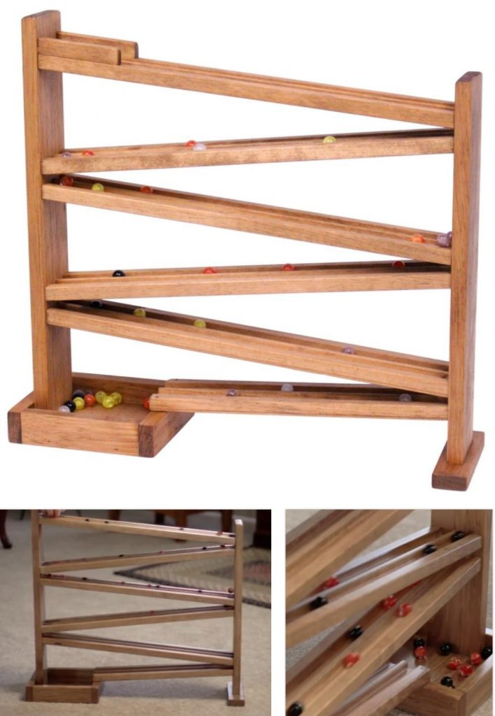 Amish Toy Box Classic Wooden Marble Race Track