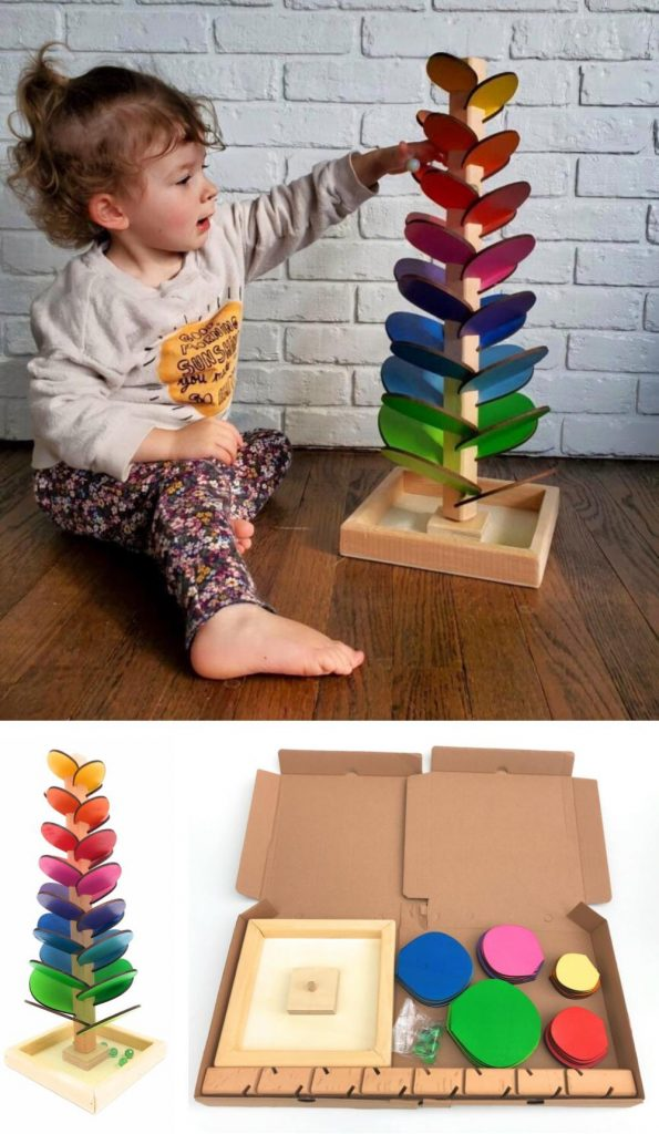 Lovely Wooden Things Wooden Marble Tree Music Toy