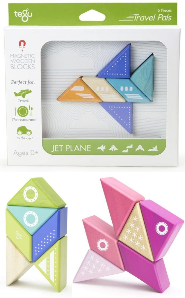 Tegu Blocks Travel Set For Baby Travel Pals 1 Year And Up