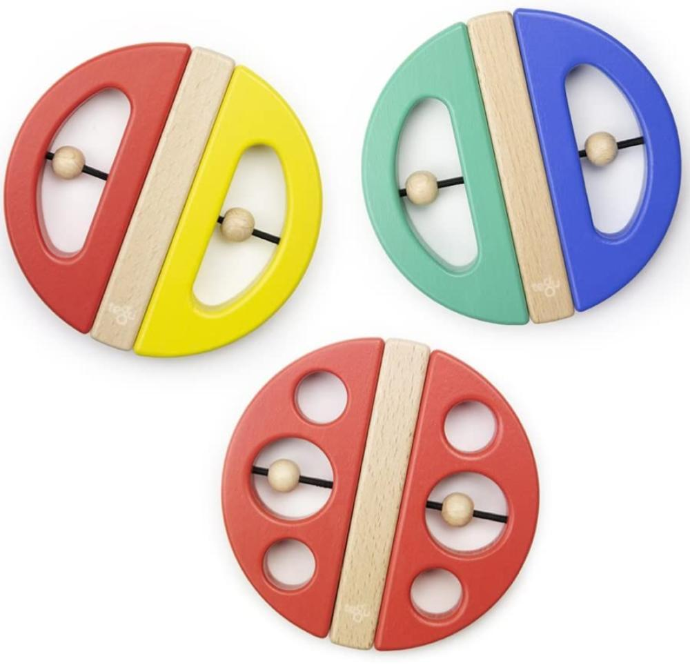 Tegu Swivel Magnetic Wooden Teether For Babies And Infants