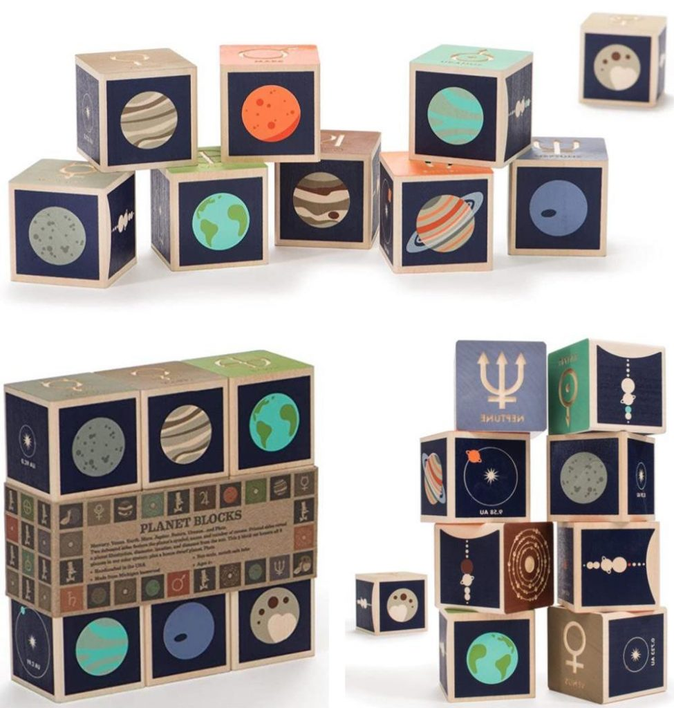 Uncle Goose Planet Constellation Moon Phases Space Kids Blocks