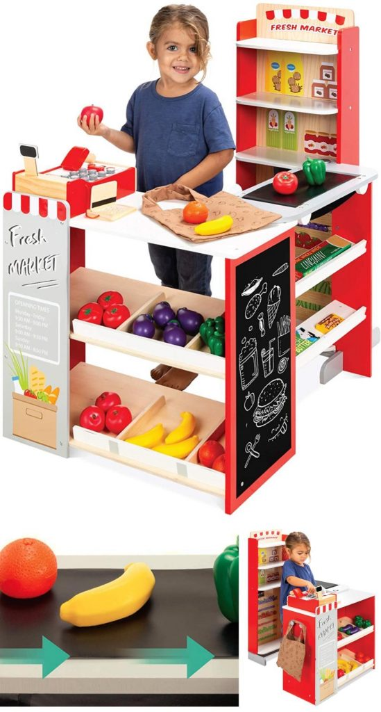 Best Choice Products Grocery Store Play Center With Working Conveyor