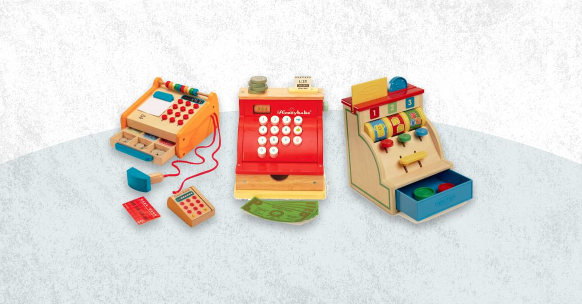 Best Wooden Cash Register Toy For Kids Toddlers And Baby