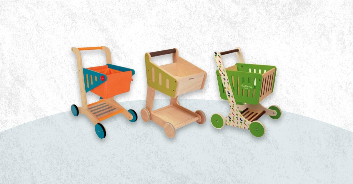 Best Wooden Grocery Cart For Toddler And Baby