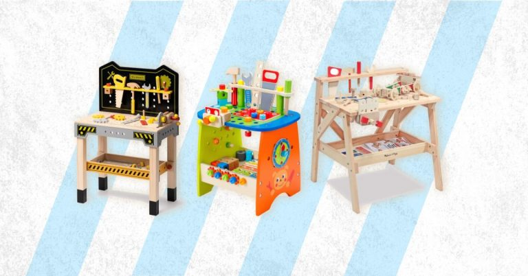 Best Wooden Workbench And Tool Bench For Kids Toddlers And Babies