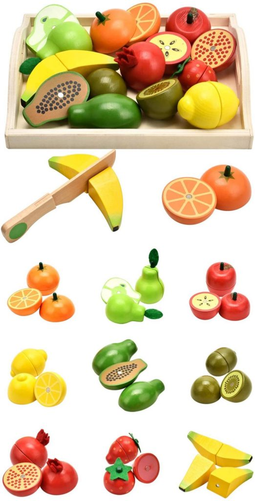 Carlorbo Pretend Play Cuttable Toy Fruit Set For Kids Age 3 Plus