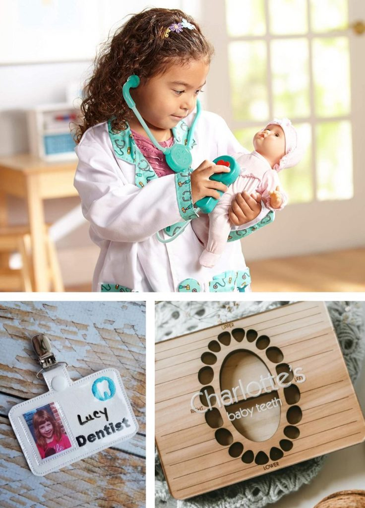 Dentist Play Materials Role Play Kids Clothes Personalized Dentist And Tooth Toys