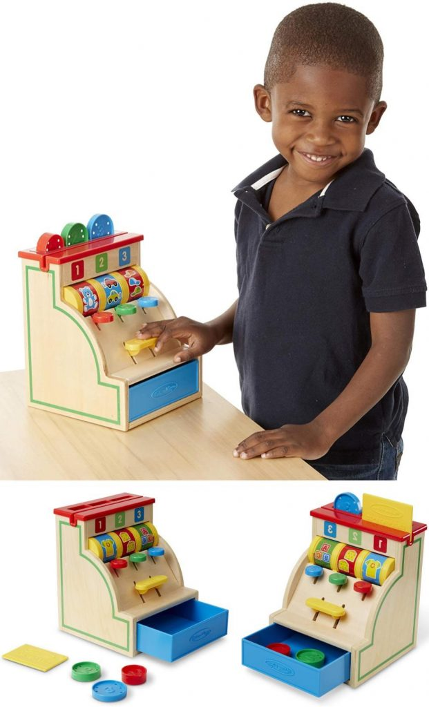 Melissa And Doug Cash Register Chunky Coin Play For Babies