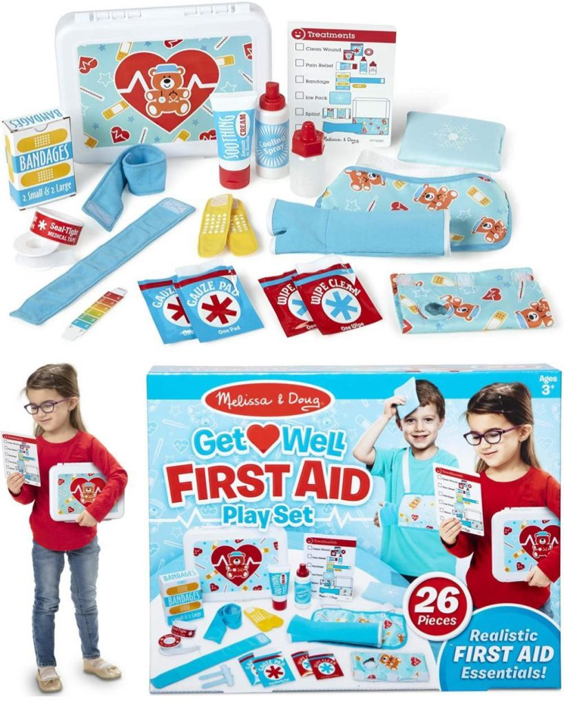 Melissa And Doug First Aid Kit Play Set Double Dentist And Doctor