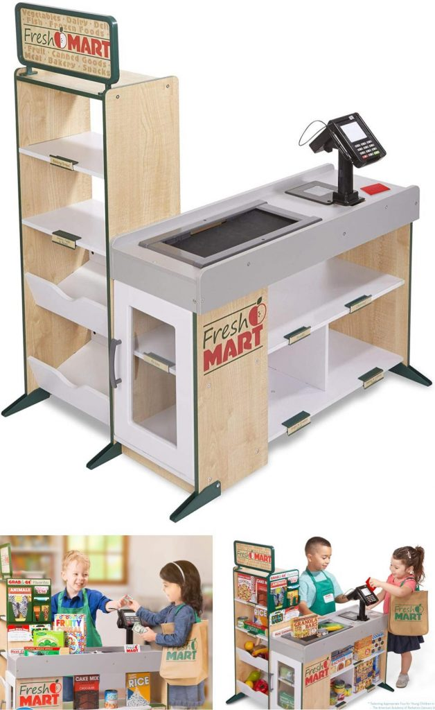 Melissa And Doug Grocery Store For Kids Freestanding Wooden Fresh Mart