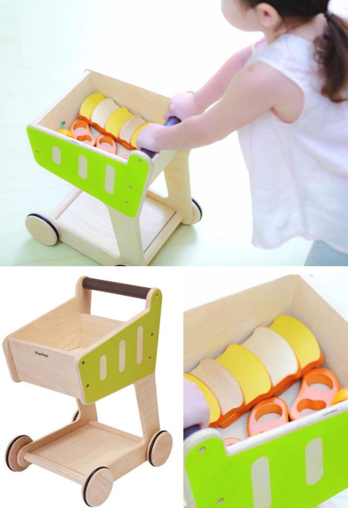 Plan Toys Baby Perfect Shopping Cart Walker For 2 Years And Up