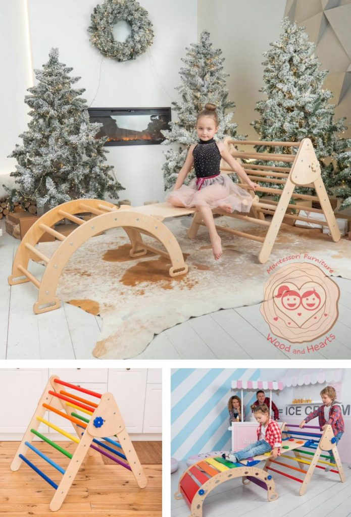 Wood And Hearts Pikler Triangle Sustainable Christmas Gift For Toddler