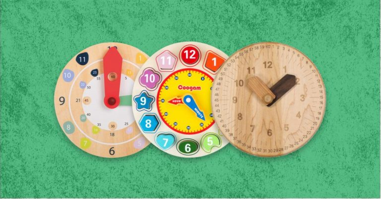Best Wooden Learning Clock For Time Telling Toddlers And Kids