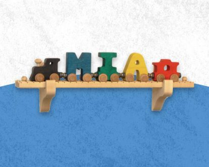 Best Personalized Wooden Name Train For Toddlers And Baby Gift