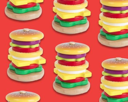Best Wooden Hamburger Stacking Toys And Pretend Play Burger Toys